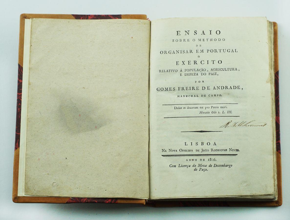 Rara obra de Gomes Freire de Andrade (1806)