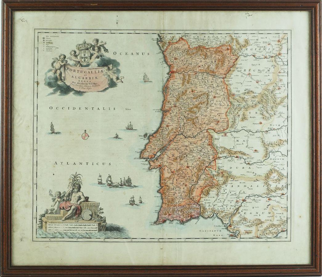 Mapa de Portugal (Algarve)