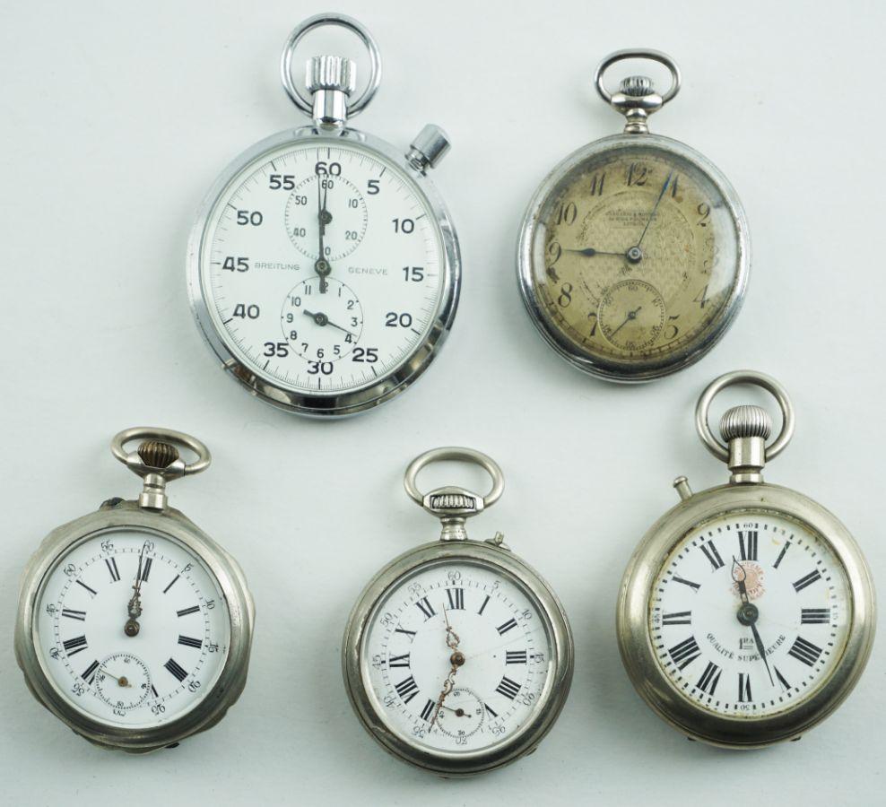 4 Relógios de bolso e Cronómetro