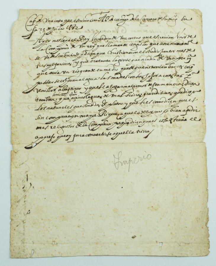 Angola - Minas De Prata – Manuscrito (1582)