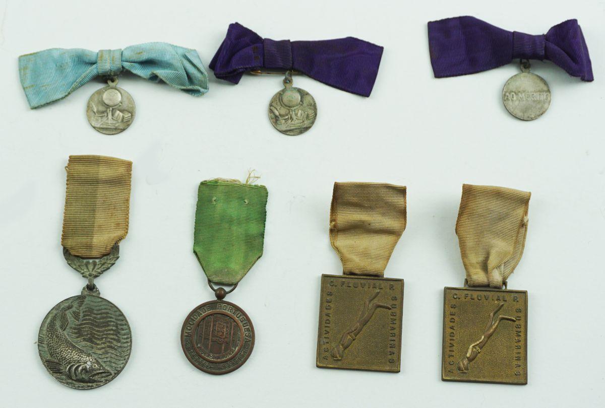 7 Medalhas (Mérito Escolar, Pesca Submarina e Mocidade)