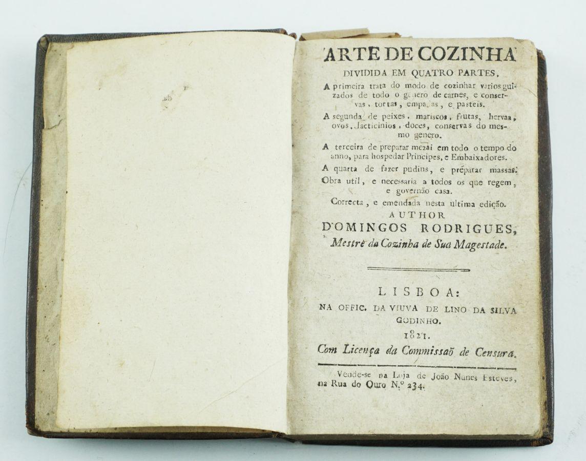 Domingos rodrigues. - ARTE DE COZINHA.