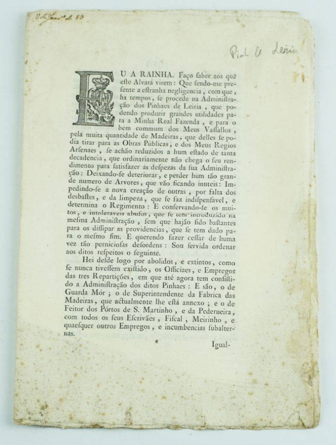Pinhal de Leiria -1783