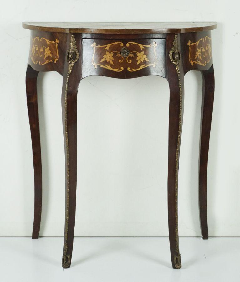Mesa de encostar estilo Luís XV