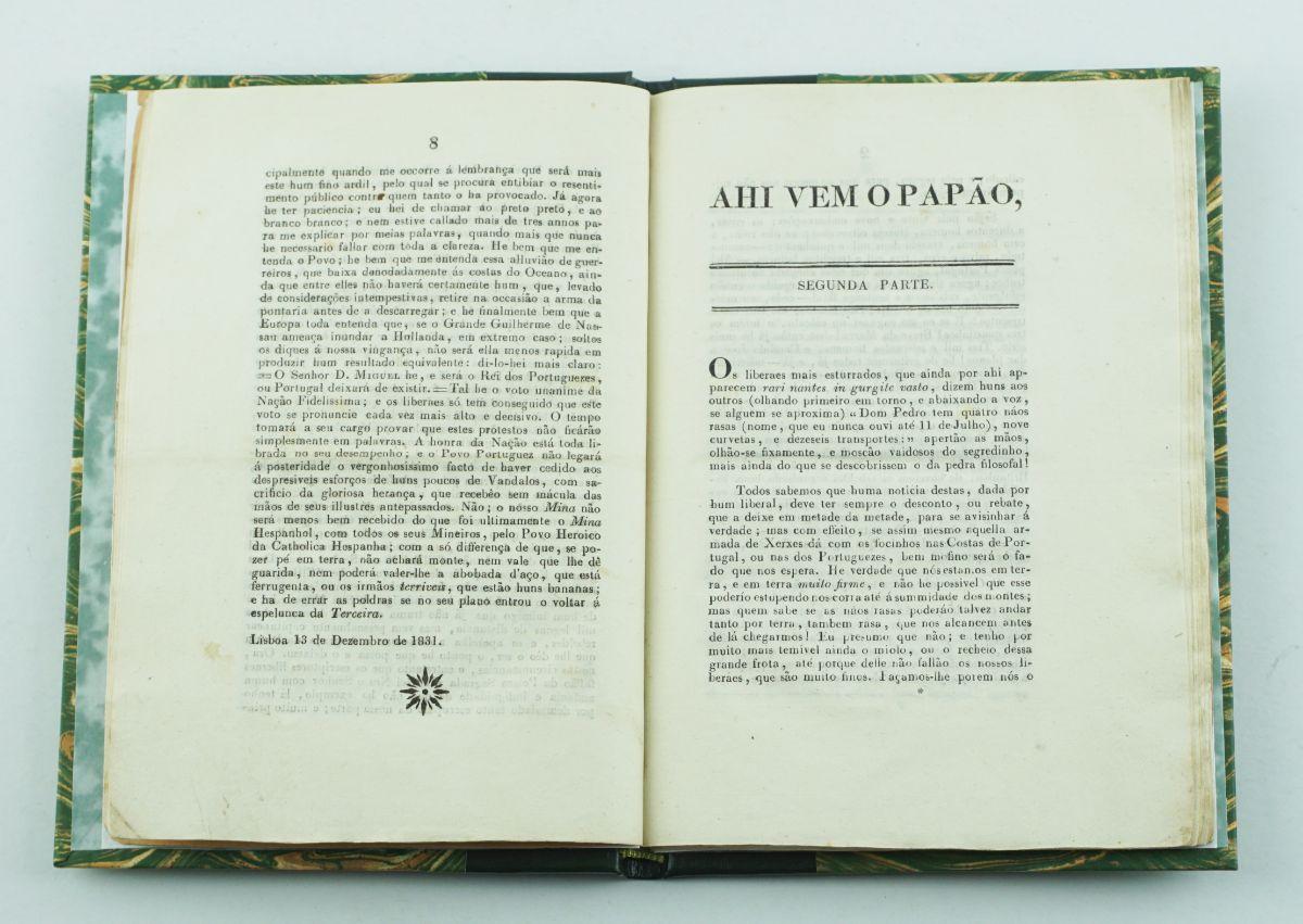 Colecção da publicação periódica miguelista Aí vem o Papão