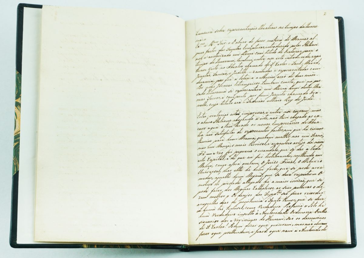 Manuscrito – censuras do Padre José Agostinho de Macedo