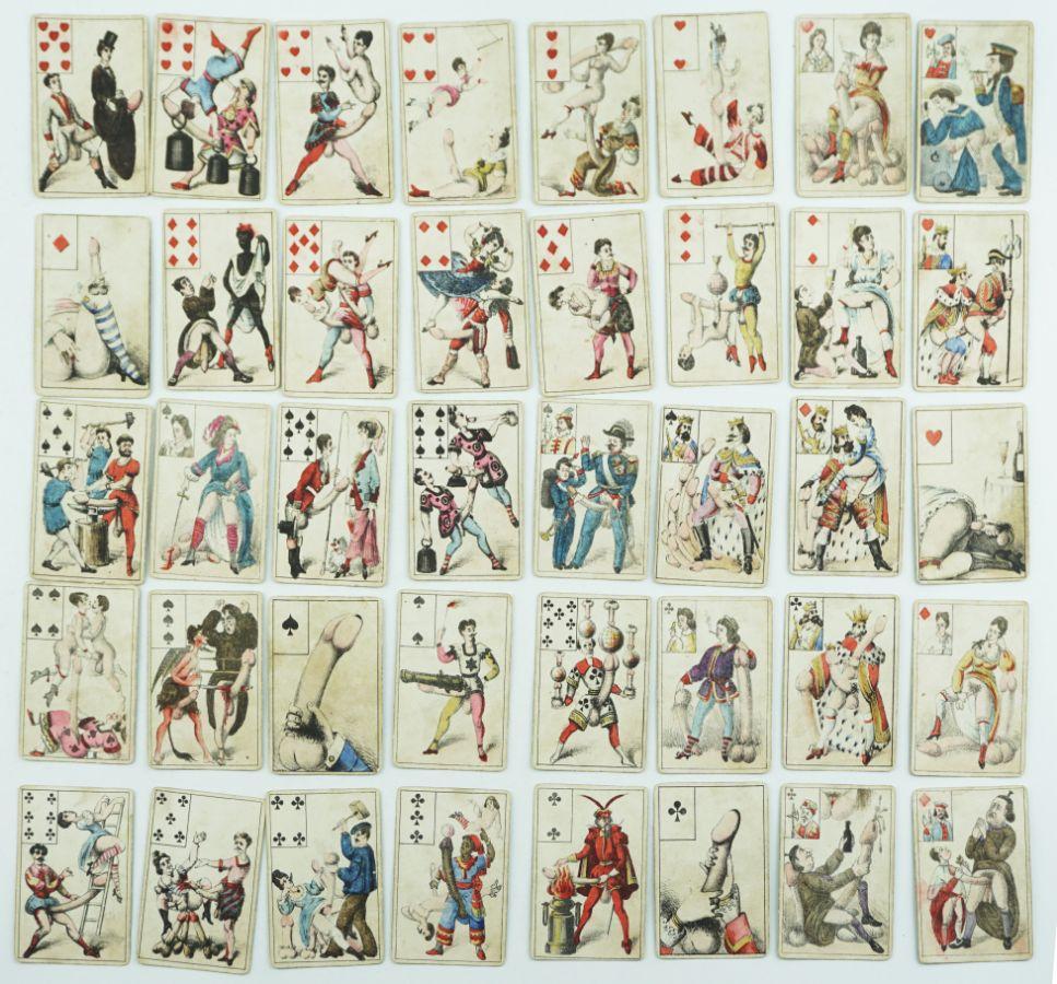 Baralho de cartas obsceno (século XIX)