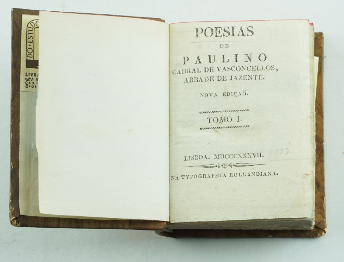 Poesias completas do Abade de Jazente (1827)