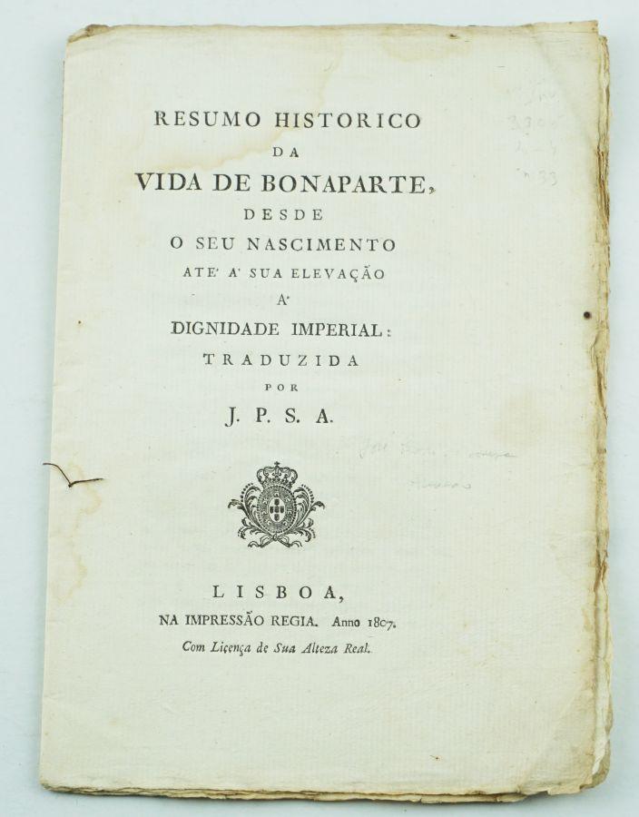 Biografia elogiosa de Napoleão por um afrancesado português (1807)