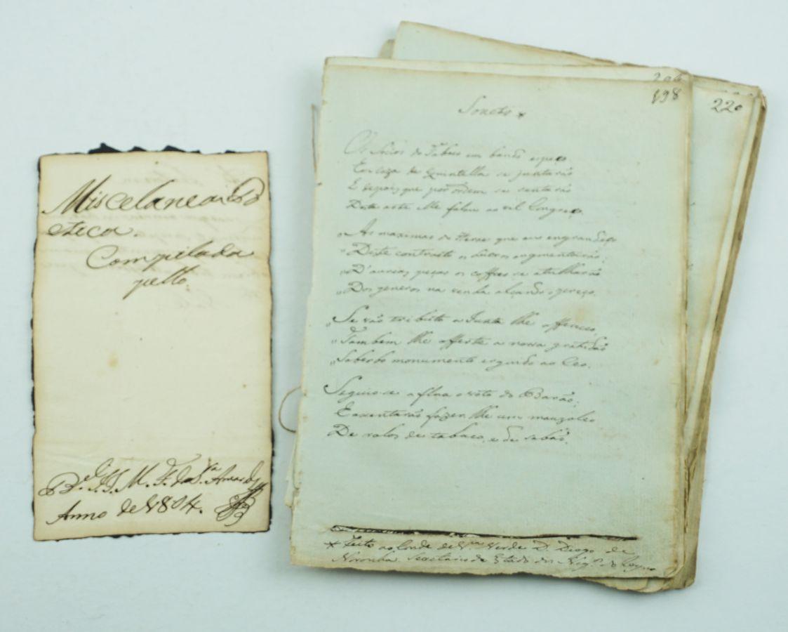 Um cancioneiro de 1804 (manuscrito)