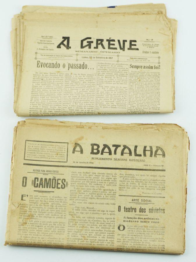Jornais anarquistas A Greve e suplemento semanal de A Batalha