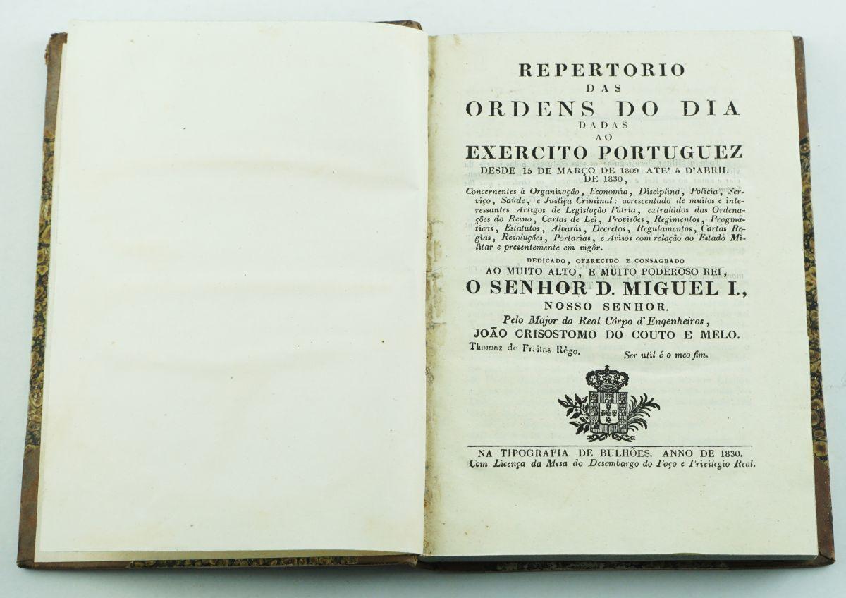 Ordens do Dia dadas ao Exército Português (1830)