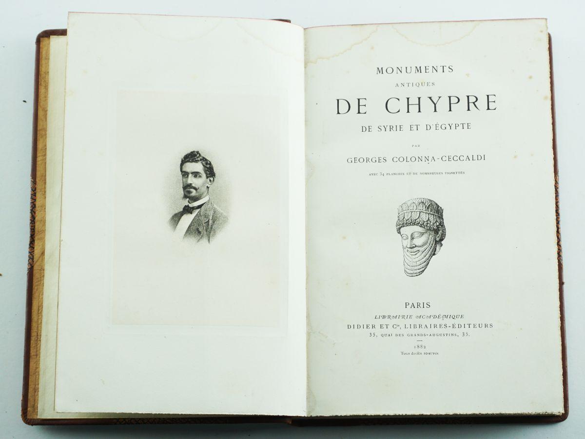 Monuments Antiques de Chypre, de Syrie et d'Egypte