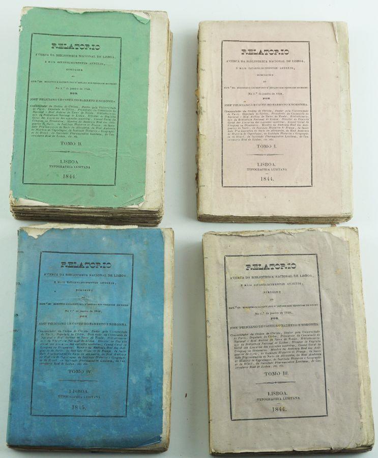 Relatório Acerca da Biblioteca Nacional de Lisboa – 1844