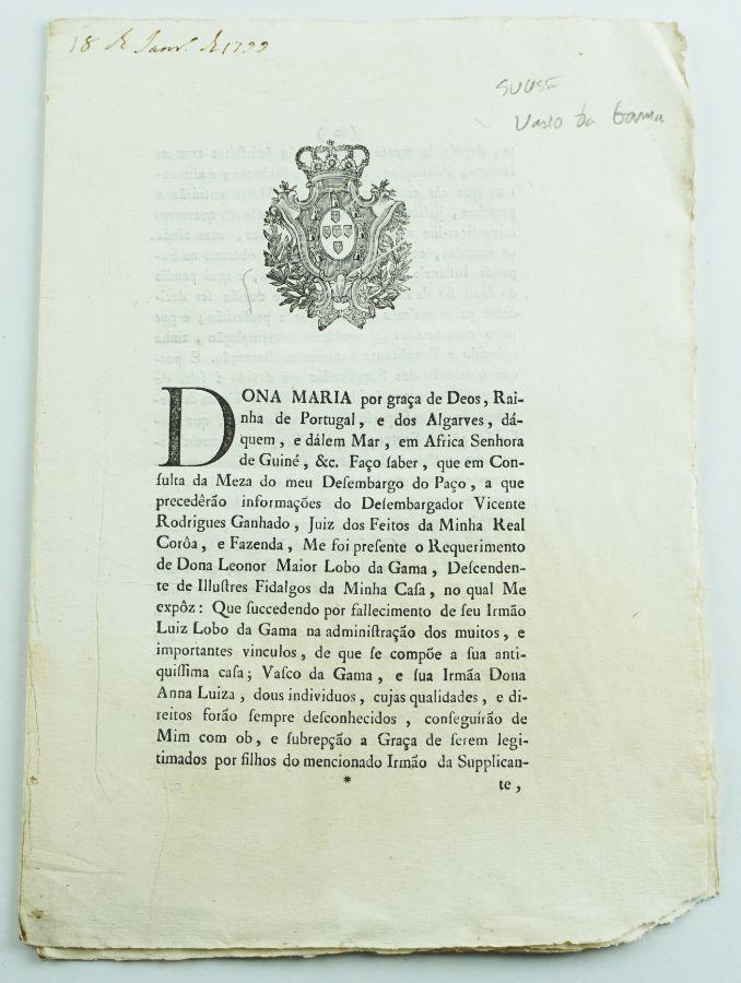 Sucessão de Vasco da Gama