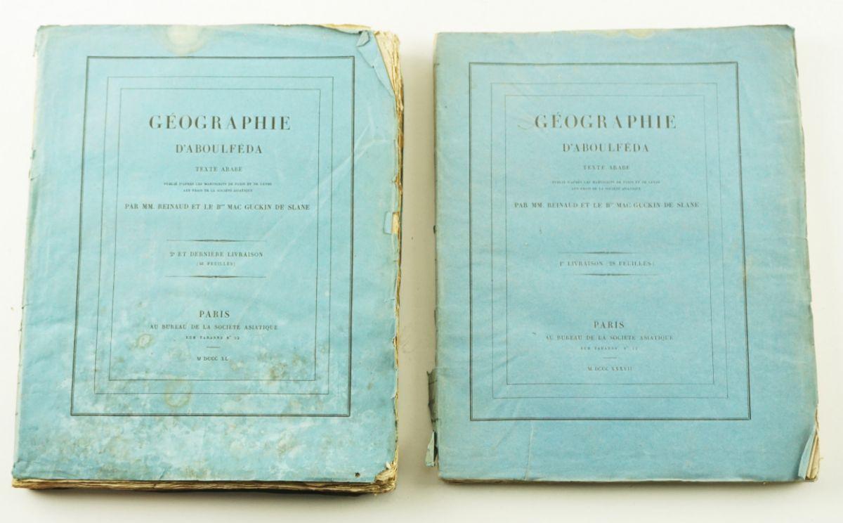 Géographie D'Aboulfeda - 1837 - 1840