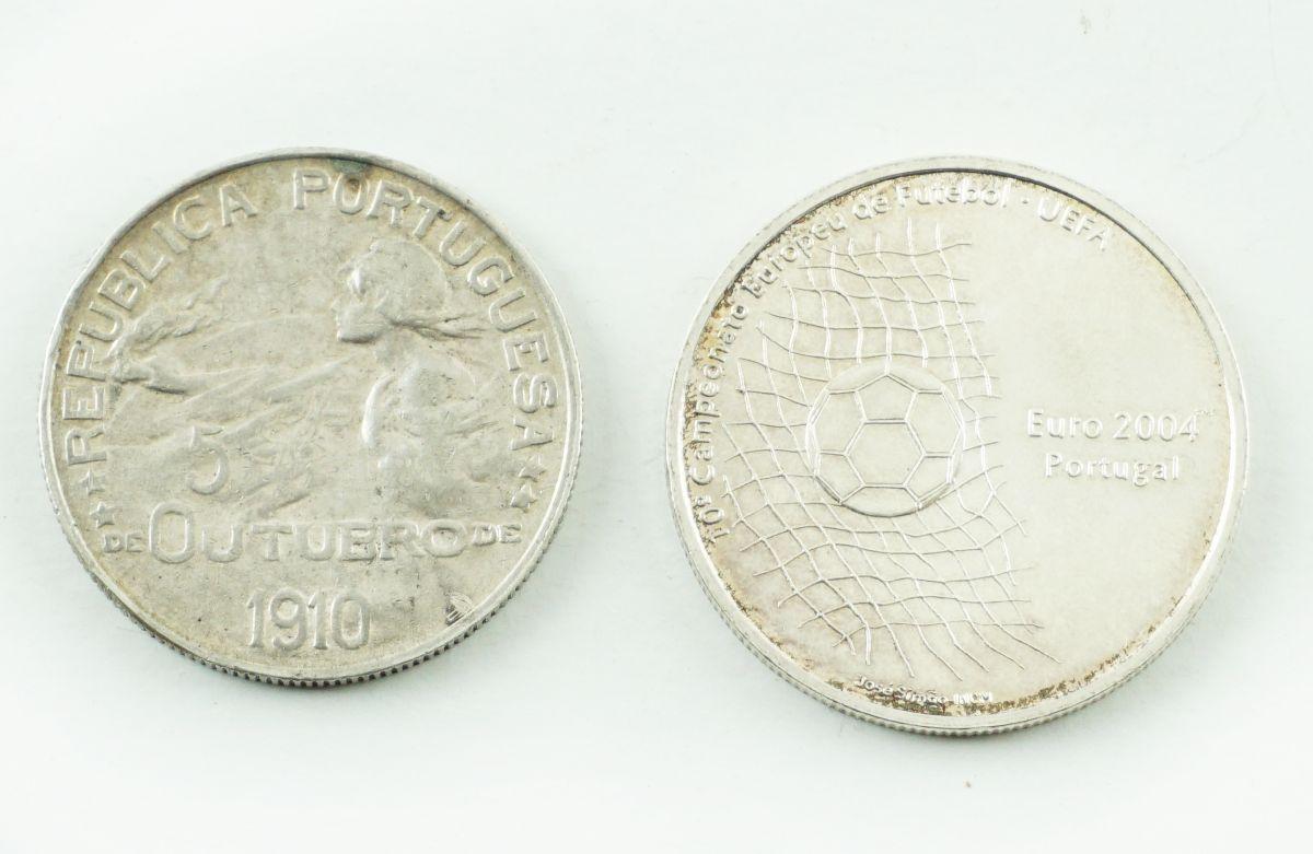 2 Moedas Portuguesas em Prata