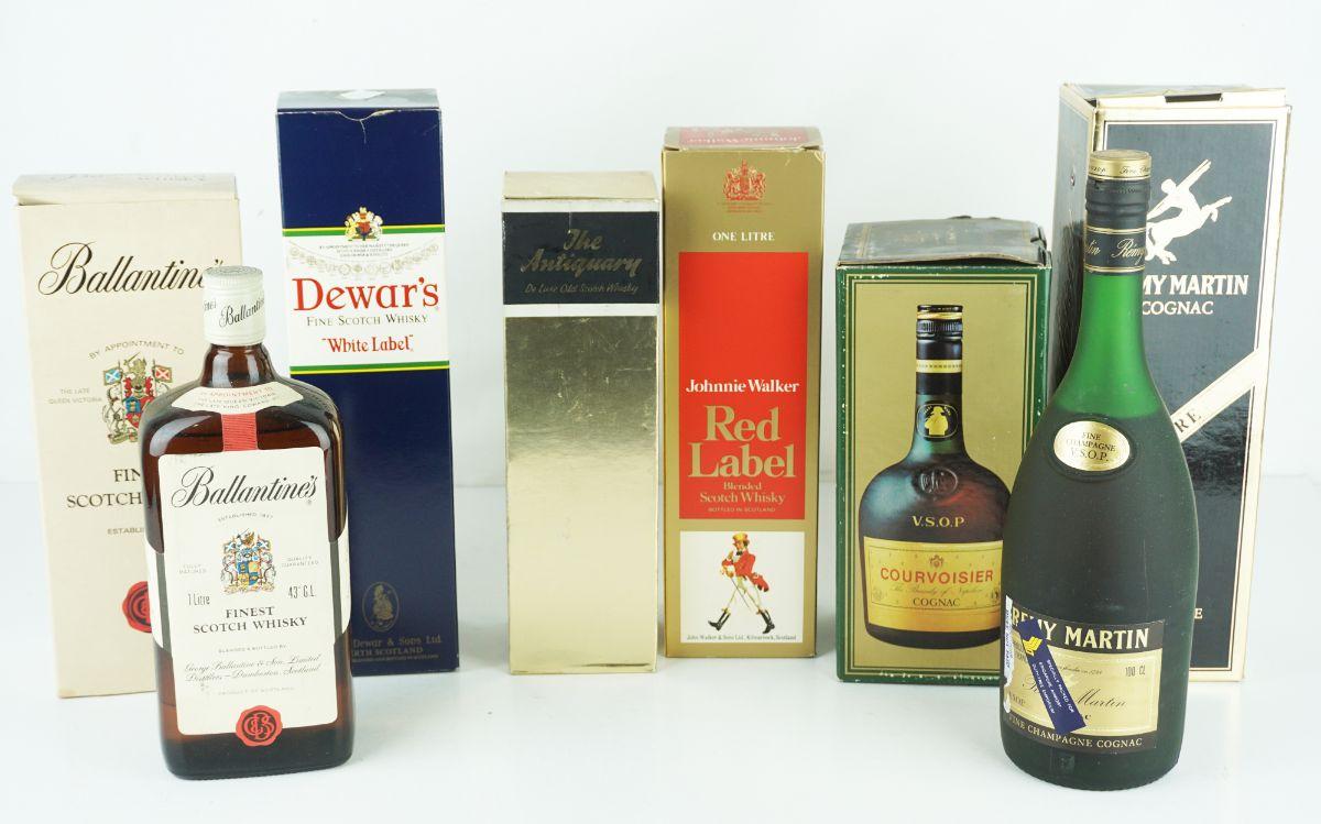 7 Garrafas de Whisky / Cognac