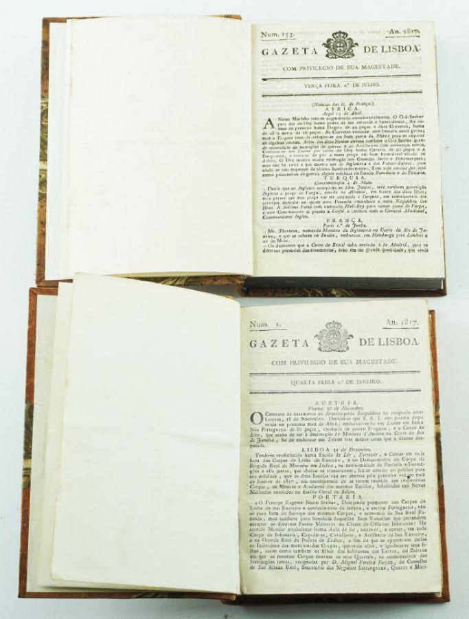 Gazeta de Lisboa, ano de 1817