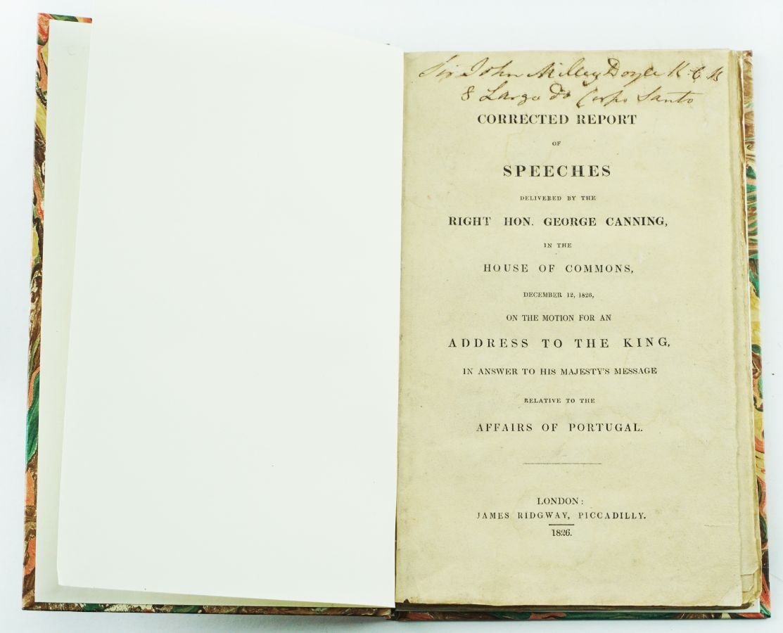 Lutas Liberais. Discursos de Lord Canning (1826)