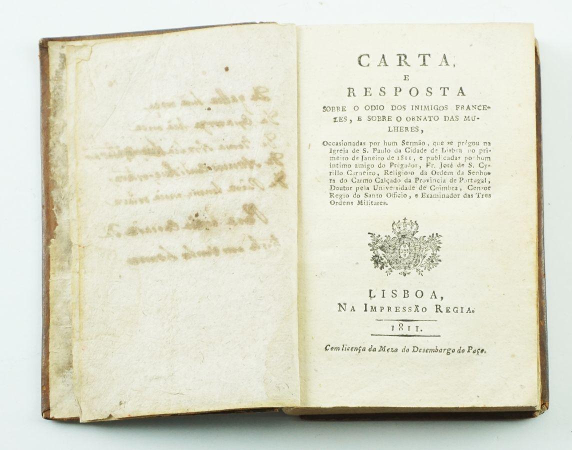 Livro antifrancês e contra a liberalidade das mulheres (1811)