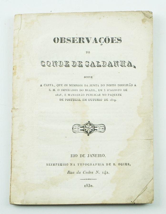 Rara publicação do general Saldanha impressa no Brasil (1830)