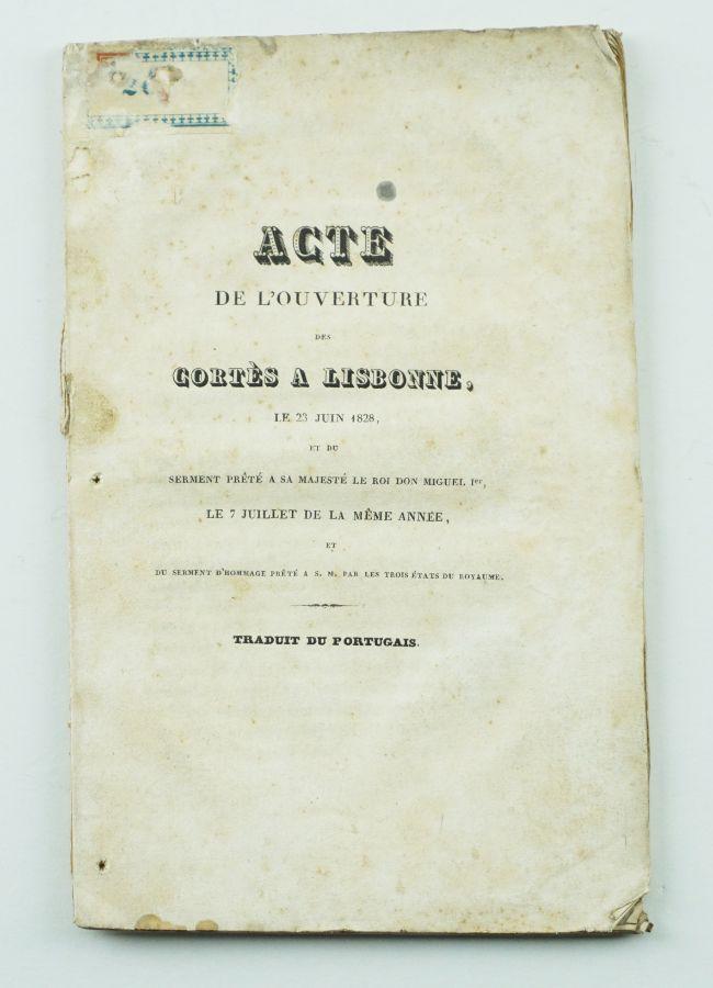 D. Miguel – Cortes e aclamação como rei (1828)