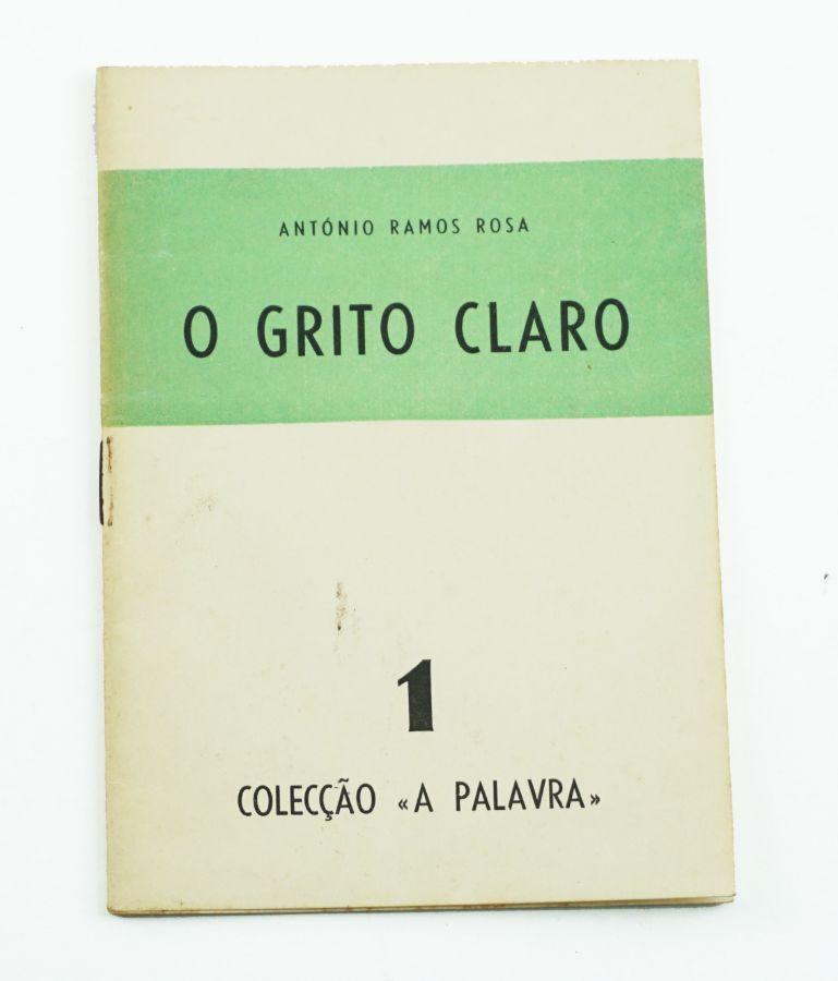 António Ramos Rosa - Primeiro livro do autor – com dedicatória