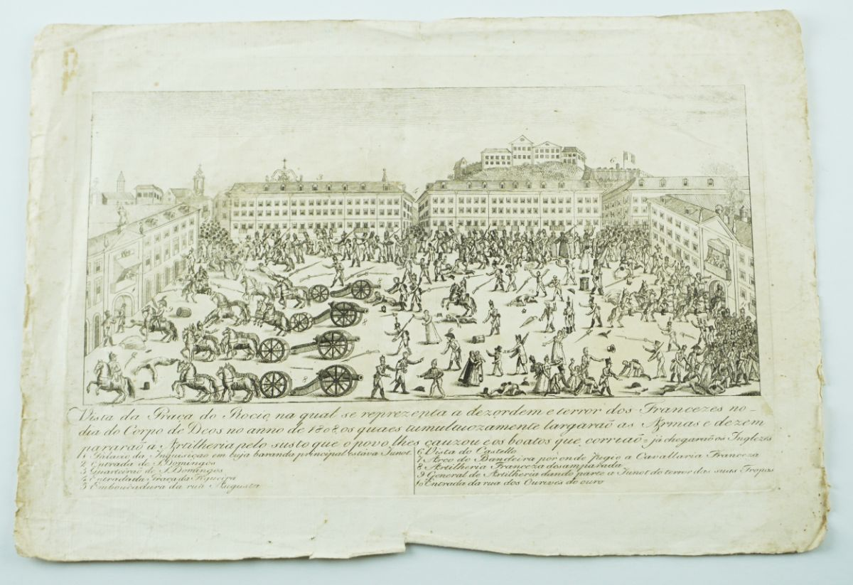 1ª Invasão Francesa – gravura portuguesa