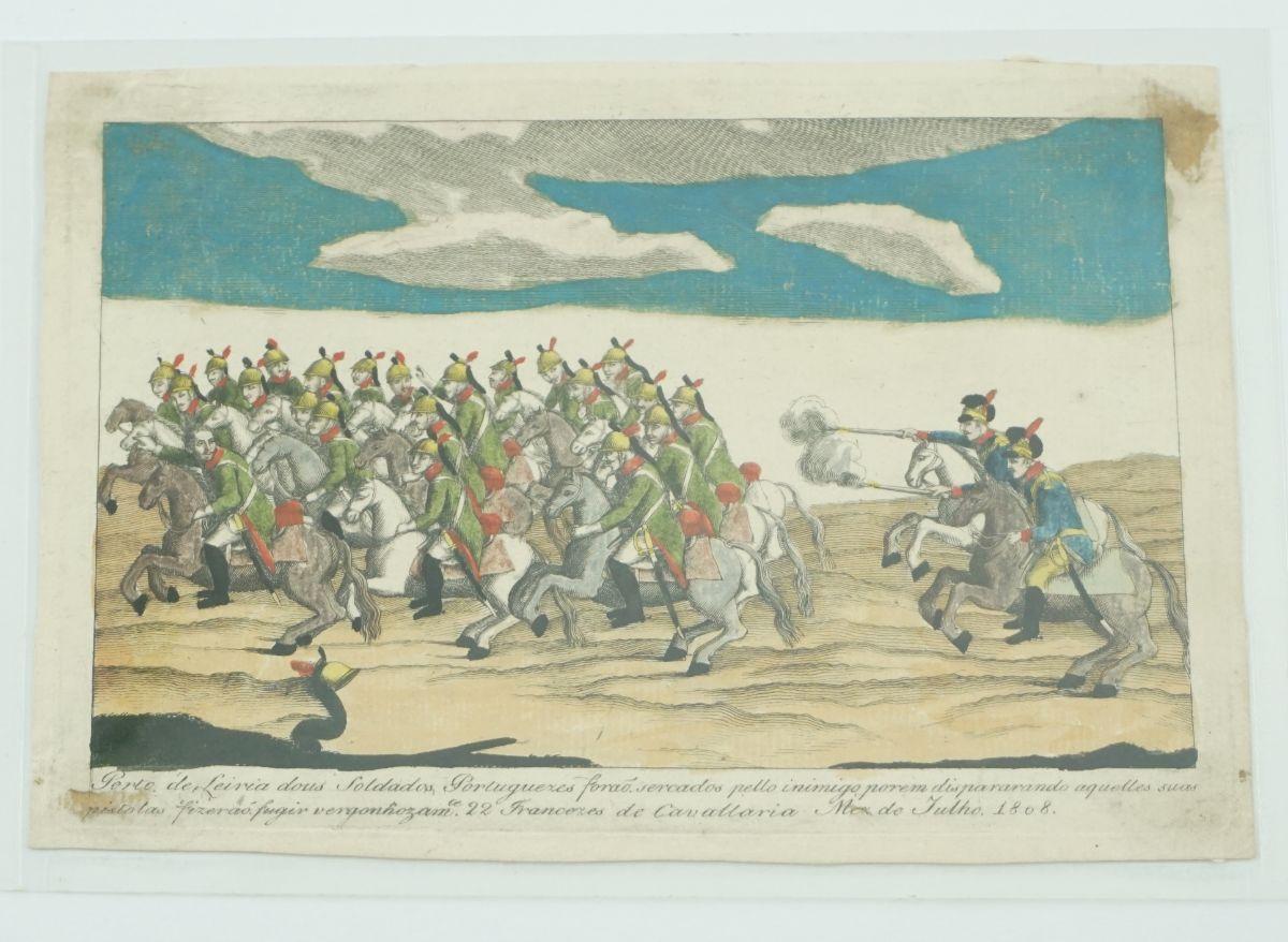 Rara gravura portuguesa sobre a I Invasão Francesa (1808)