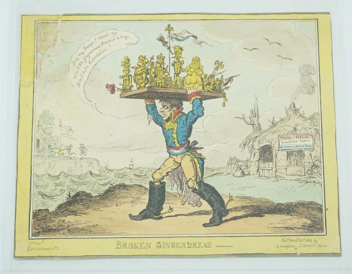 Caricatura antinapoleónica de George Cruikshank(1814)