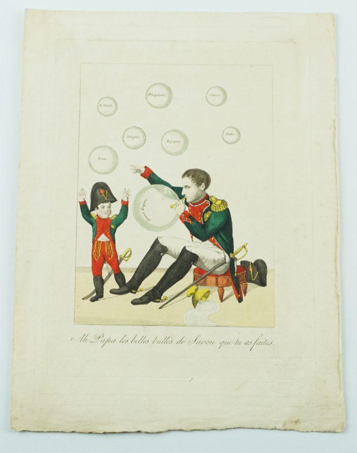 Caricatura antinapoleónica francesa (1814)