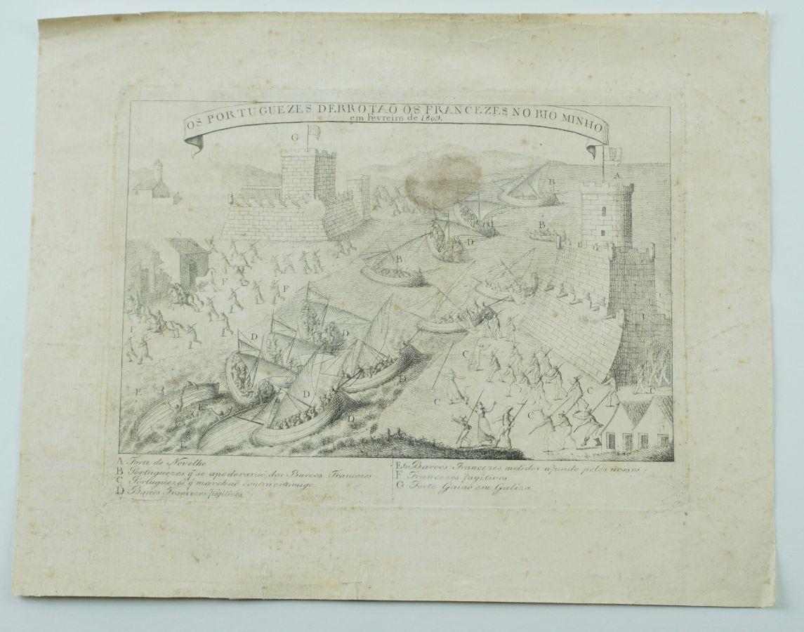 Gravura portuguesa – 2ª Invasão Francesa (1809)