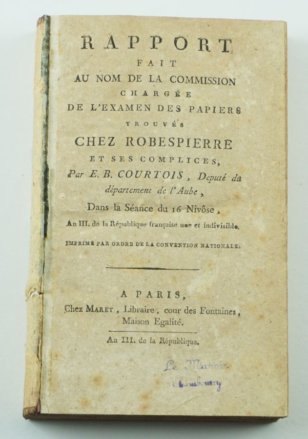 Obra sobre a queda de Robespierre (1795)