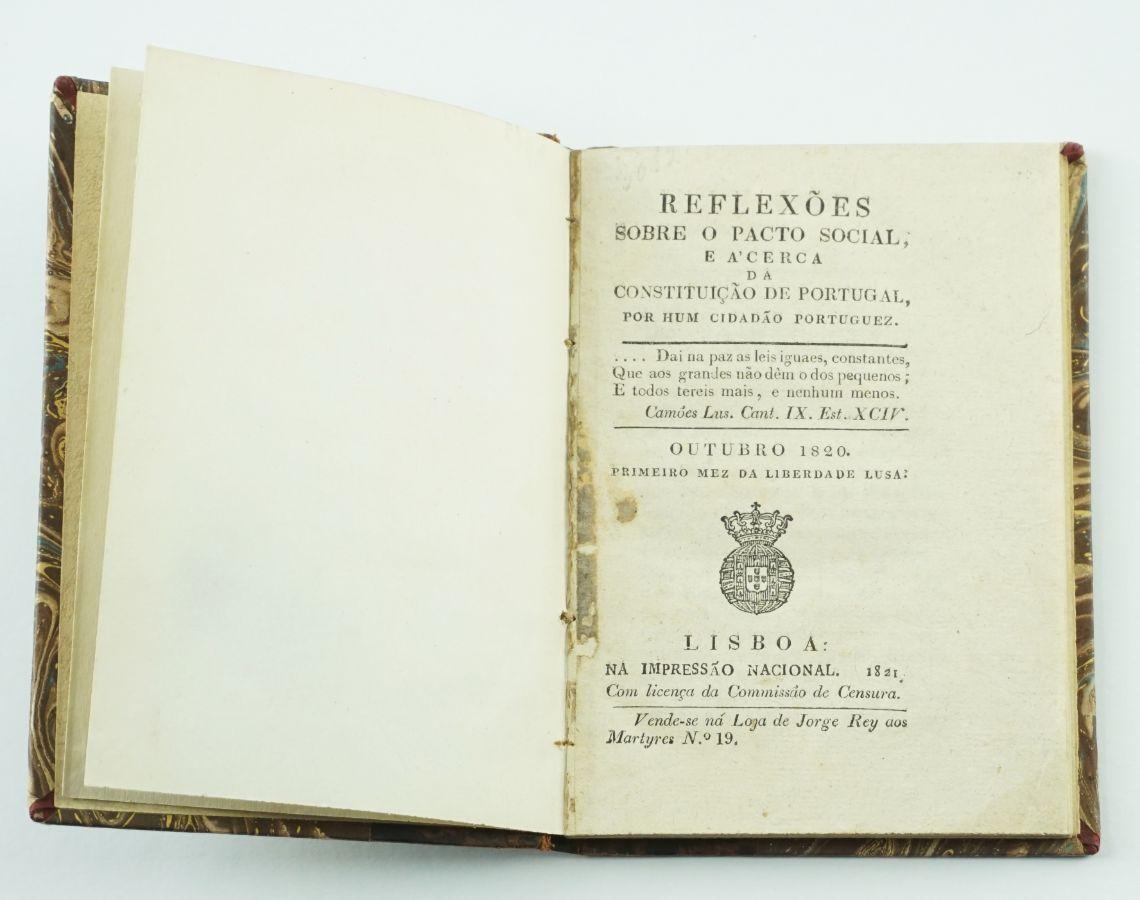 Reflexões sobre o Pacto Social e acerca da Constituição de Portugal (1821)