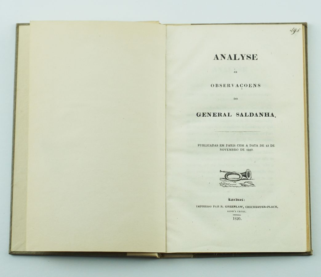 Analise às Observações do General Saldanha (1830)