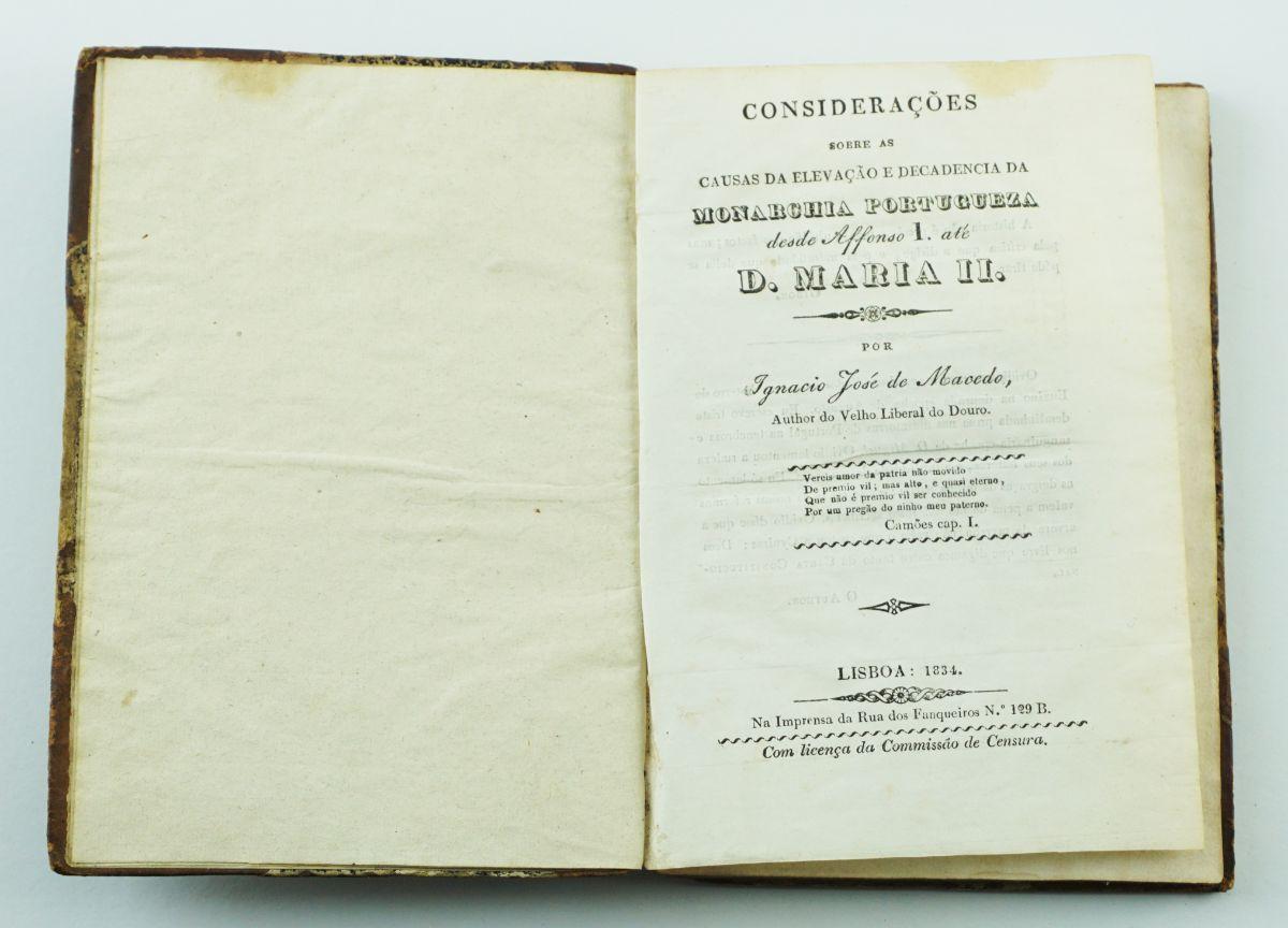 Considerações sobre as causas da elevação e decadência da Monarquia Portuguesa