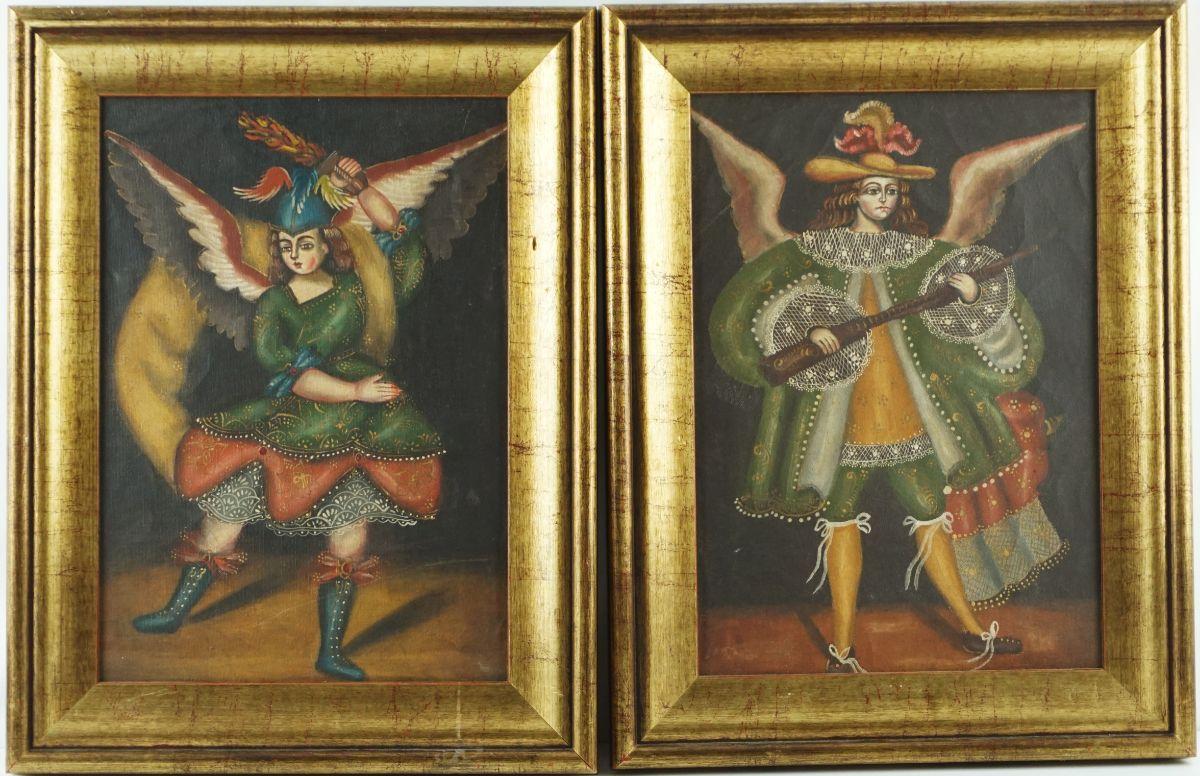 2 Pinturas Religiosas da Escola de Cusco