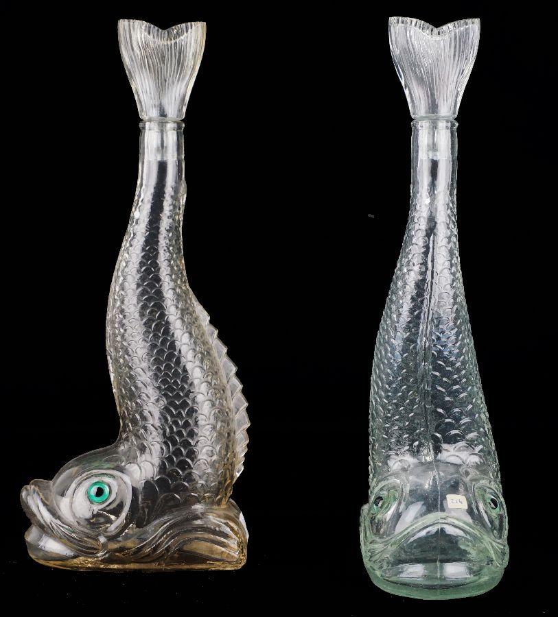 Par de garrafas em forma de peixe