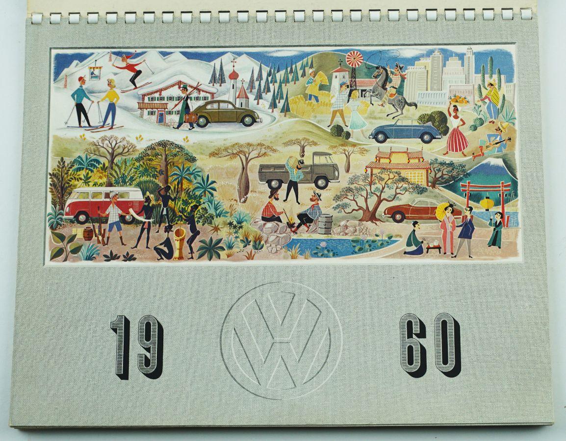 Calendario 1960.Lote Volkswagen Calendario 1960 Bestnet Leiloes