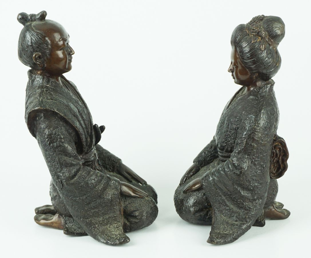 Par de Esculturas do Japão