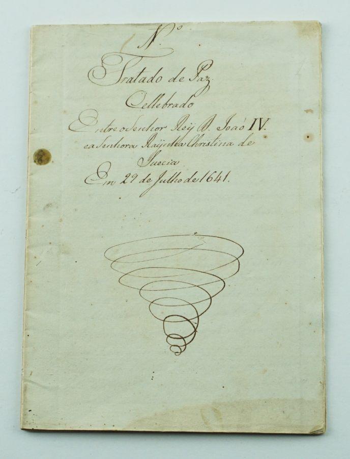 D. João IV e Rainha Cristina da Suécia - Manuscrito