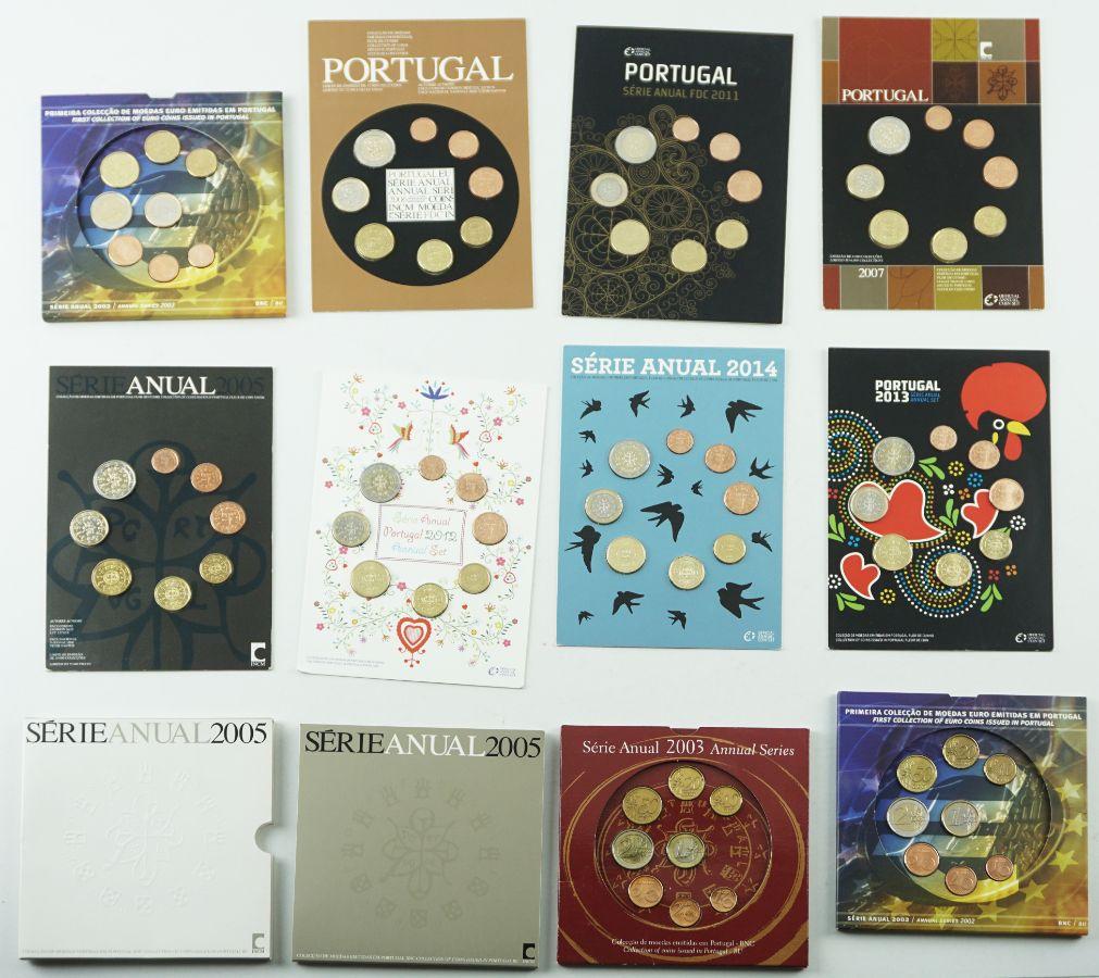 Primeiras Colecções de Moedas de Euro emitidas em Portugal