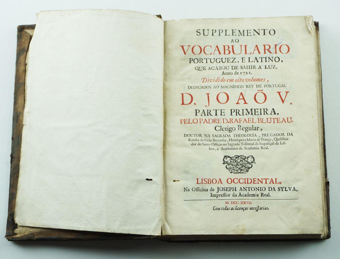 Supplemento ao Vocabulário Portuguez e Latino 1721