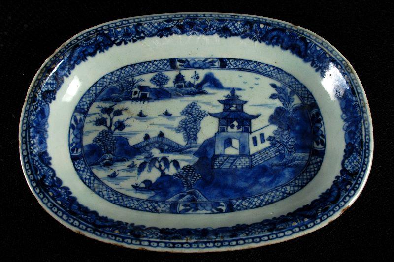 Travessa Oval em Porcelana Chinesa