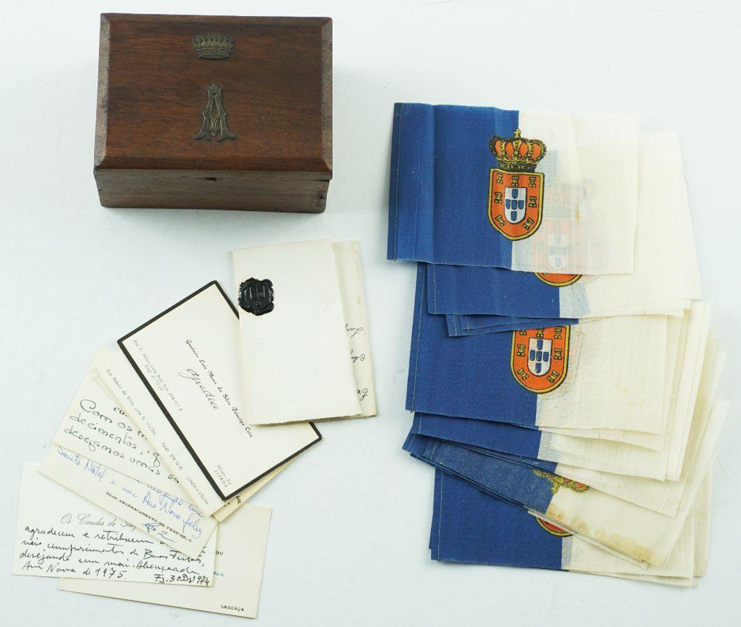 Cartões de visita heráldicos.- Séculos XIX e XX.- Bandeiras Monárquicas