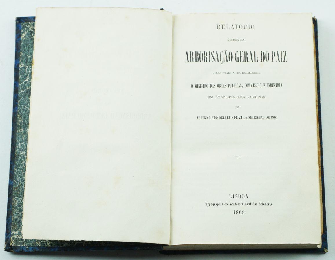 Relatório Ácerca da Arborização Geral do Paiz – 1868