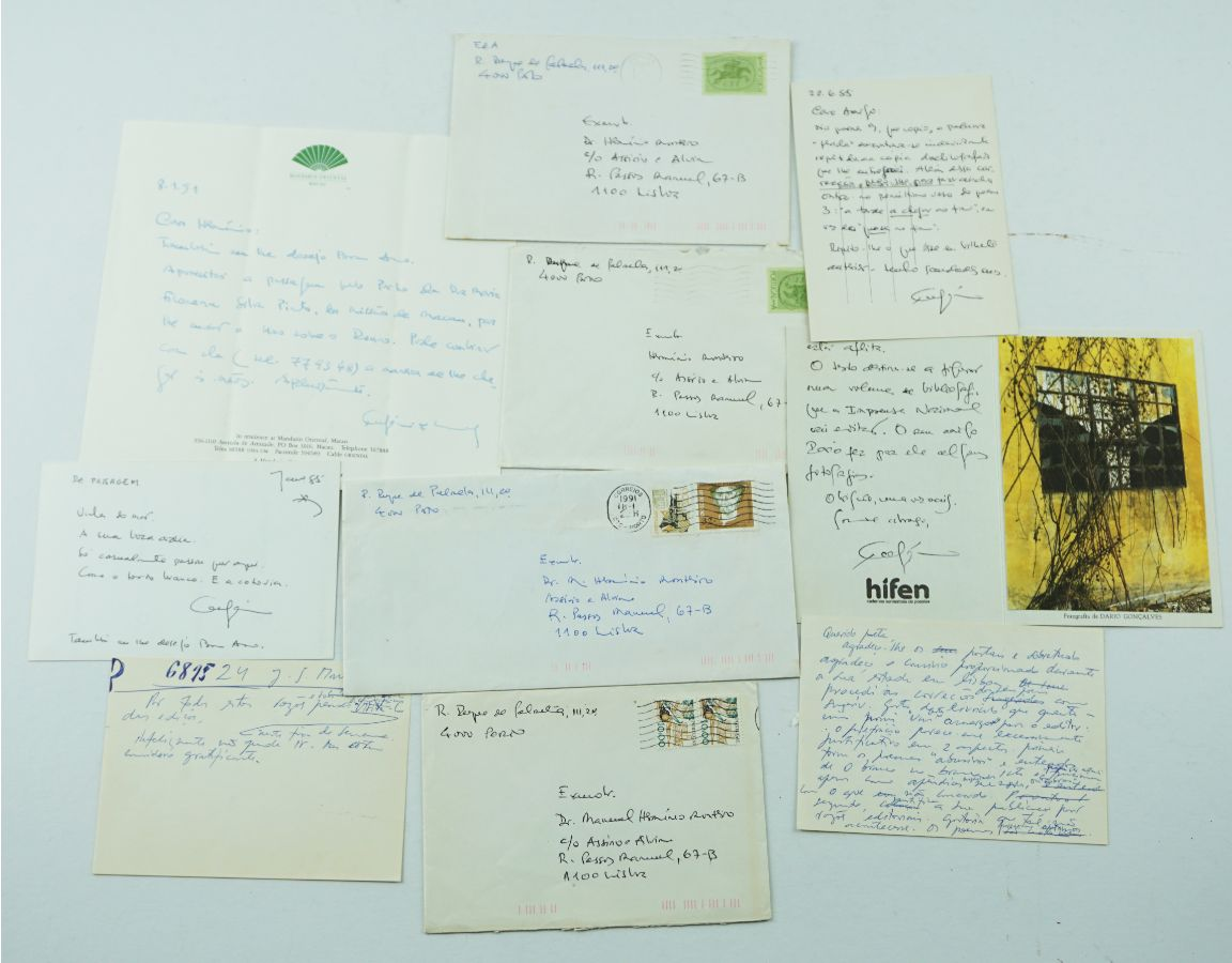 Eugénio de Andrade – Manuscrito – Poema / correspondência