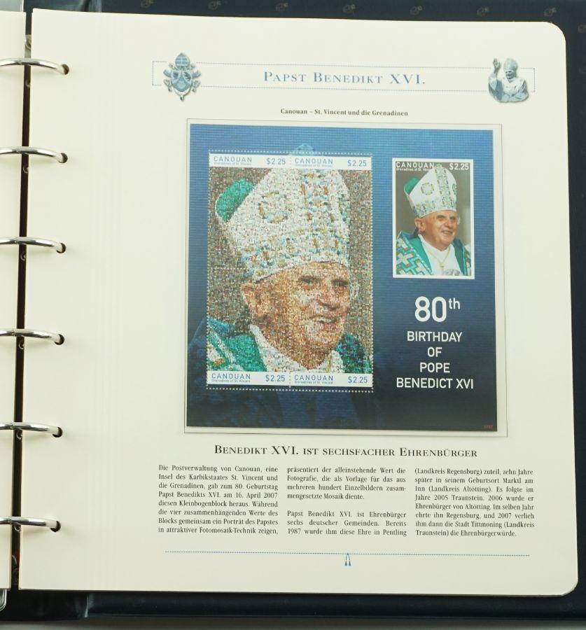 """Filatelia Temática """"Papa Bento XVI"""""""