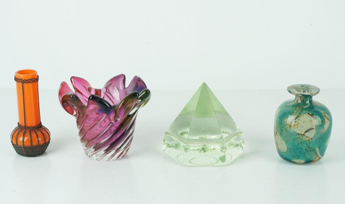 4 Peças em vidro e pasta de vidro
